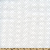 Tone on Tone Flower Cotton Fabric - White TONE-3037 - Clearance