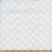 Tone on Tone Small Floral Cotton Fabric - White TONE-3034
