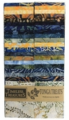 Tonga Treat Strips - Blueberry Pie Batik Prints