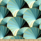 Touch of Spice Cotton Fabric - Blue Gold FAFF721-2