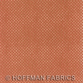 Treasures of the East from Hoffman Fabrics - rust - CLEARANCE