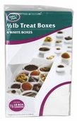 Treat Boxes - 1/2lb. - White - Package of 3