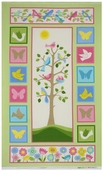 Tree of Life Cotton Flannel Fabric Panel - Pastel