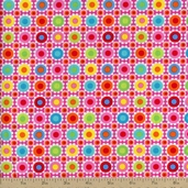 Tribeca Floral Geo Cotton Fabric - Lime