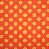 Trick or Treat Cotton Fabric - Dot Orange