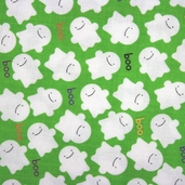 Trick or Treat Cotton Fabric - Ghost Green