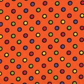 Trick or Treat Cotton Fabric - Orange
