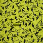 Trick or Treat Fabric - Moss Green