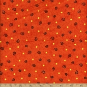 Tricks and Treats Swirl Cotton Fabric - Orange