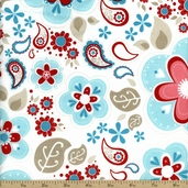 Twice As Nice Floral Cotton Fabric - Blue