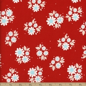 Twice As Nice Small Floral Cotton Fabric - Red
