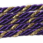 Twist Cording By the Spool - Purple/Gold - Clearance