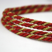 Twist Cording By the Spool - Red/Gold - Clearance