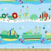 Two By Two Cotton Fabric - Blue