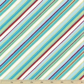Two By Two Cotton Fabric - Stripe Blue