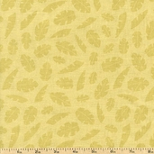 Two Of A Kind Leaves Cotton Fabric - Green 10132-GREEN