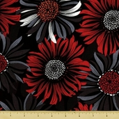 Two to Tango Cotton Fabric - Sunflowers - Black