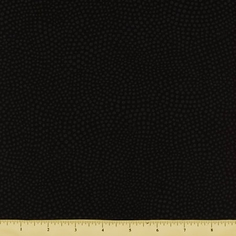 Two to Tango Cotton Fabric - Swirled Dots - Black