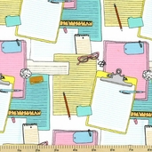 Type Cotton Fabric - Pastel 35533