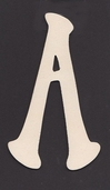 Ultra Thin Kelly Wood Letters 6 Inch - A