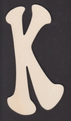 Ultra Thin Kelly Wood Letters 6 Inch - K
