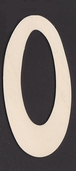 Ultra Thin Kelly Wood Letters 6 Inch - O