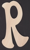 Ultra Thin Kelly Wood Letters 6 Inch - R