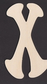 Ultra Thin Kelly Wood Letters 6 Inch - X