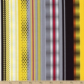 Under Construction Stripe Zone Cotton Fabric - Multi 05899-99
