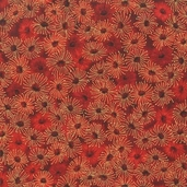 Under the Australian Sun Cotton Fabric - Crimson - Clearance