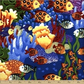 Under the Sea Cotton Fabric - Pacific J8619-133