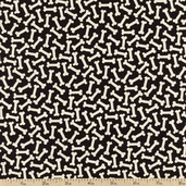 Unleashed Bones Cotton Fabric - Black 35559-3