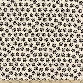 Unleashed Paws Cotton Fabric - Cream 35558-4