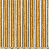 Untamed Melody Stripes Cotton Fabric - Brown 1443-99009-245