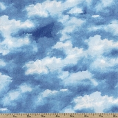 Up in the Air Clouds Cotton Fabric - Blue 36146-1