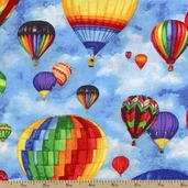 Up in the Air Packed Balloons Cotton Fabric - Multi 36145