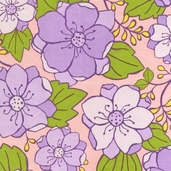 Urban Blooms Flannel Fabric - Sorbet