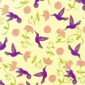 Urban Blooms Flannel Fabric - Sorbet - CLEARANCE