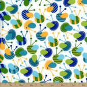 Urban Flotologie Bee Flannel Fabric - Rainbow