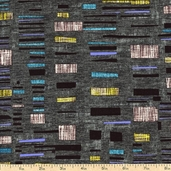 Urban Oasis Tapestry Cotton Fabric - Grey