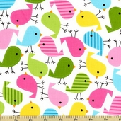 Urban Zoologie Bird Cotton Fabric - Spring