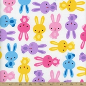 Urban Zoologie Bunny Cotton Fabric - Spring