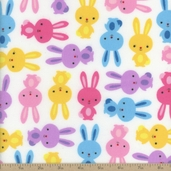 Urban Zoologie Bunny Cotton Flannel Fabric - Sweet