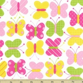 Urban Zoologie Butterfly Cotton Fabric - Spring