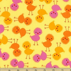 Urban Zoologie Chick Cotton Fabric - Spring
