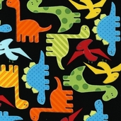 Urban Zoologie Cotton Fabric - Bright