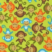 Urban Zoologie Cotton Fabric Fabric - Bermuda