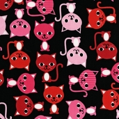 Urban Zoologie Cotton Fabric - Licorice