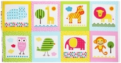 Urban Zoologie Cotton Fabric Panel - Spring