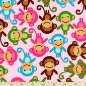 Urban Zoologie Cotton Fabric - Spring